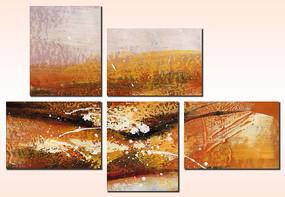 抽象油画酒店抽象油画时尚抽象装饰油画