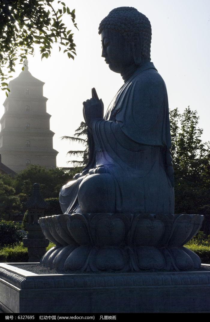 佛像大雁塔图片,高清大图_教堂寺庙素材