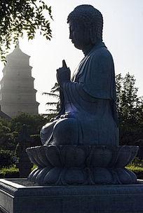 佛像大雁塔