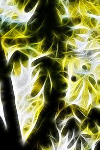 梦幻树木枝叶装饰画