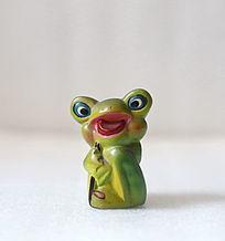 泥塑大眼青蛙