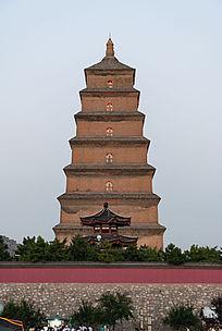 陕西西安大雁塔全景图