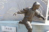 童趣铜雕躲迷藏小男孩雕像