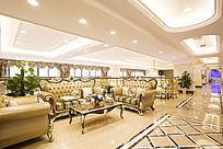 酒店豪华欧式装饰休闲区