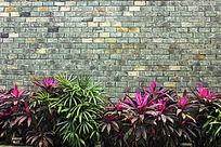 仿古青砖墙