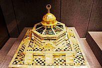 贝雕清真寺模型盒