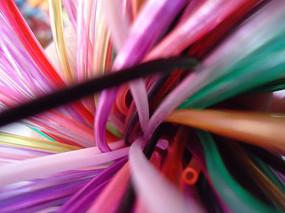 动感彩色细管