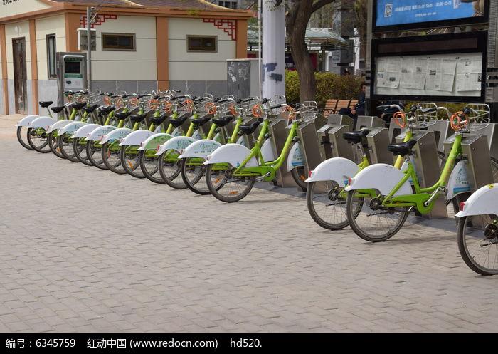 公共自行车图片