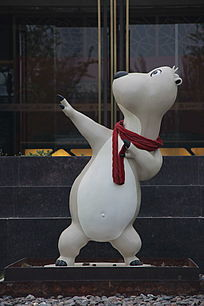 卡通狗形象雕塑