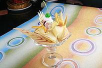 水果圣诞冰淇淋