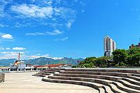 温州美丽的江滨公园