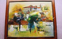 乡镇风光油画