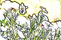 幌菊装饰画艺术画