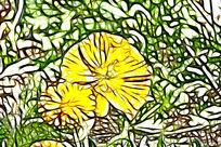 黄色虞美人装饰画艺术画