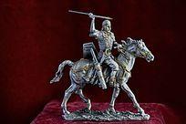 罗马骑士锡像