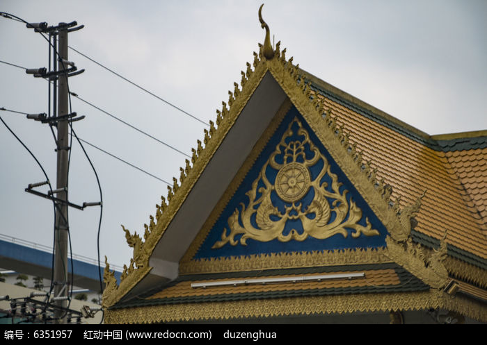 泰式房子屋檐装饰图片