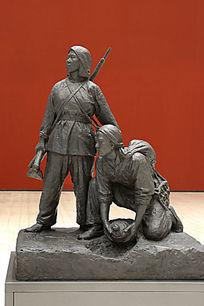 雕塑埋地雷