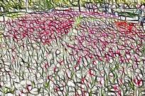 粉红色苗圃装饰画艺术画抽象画