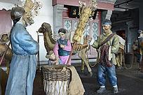 泥塑老北京小贩