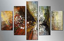 现代抽象油画 沙发背景墙