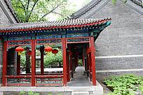 北京大观园古建筑屋檐特写
