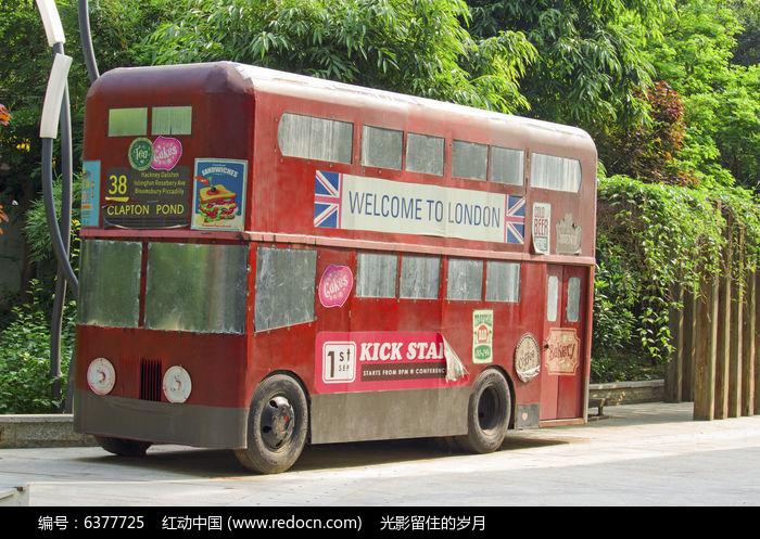 老式公交车图片