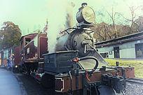 蒸汽小火车侧面
