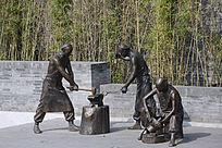 雕塑清朝铁匠