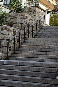 迪士尼小镇内的台阶