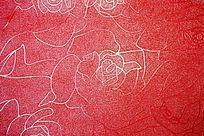 红色玫瑰花纹背景