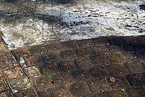 旧地板砖背景