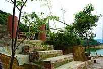 休闲场所的阶梯