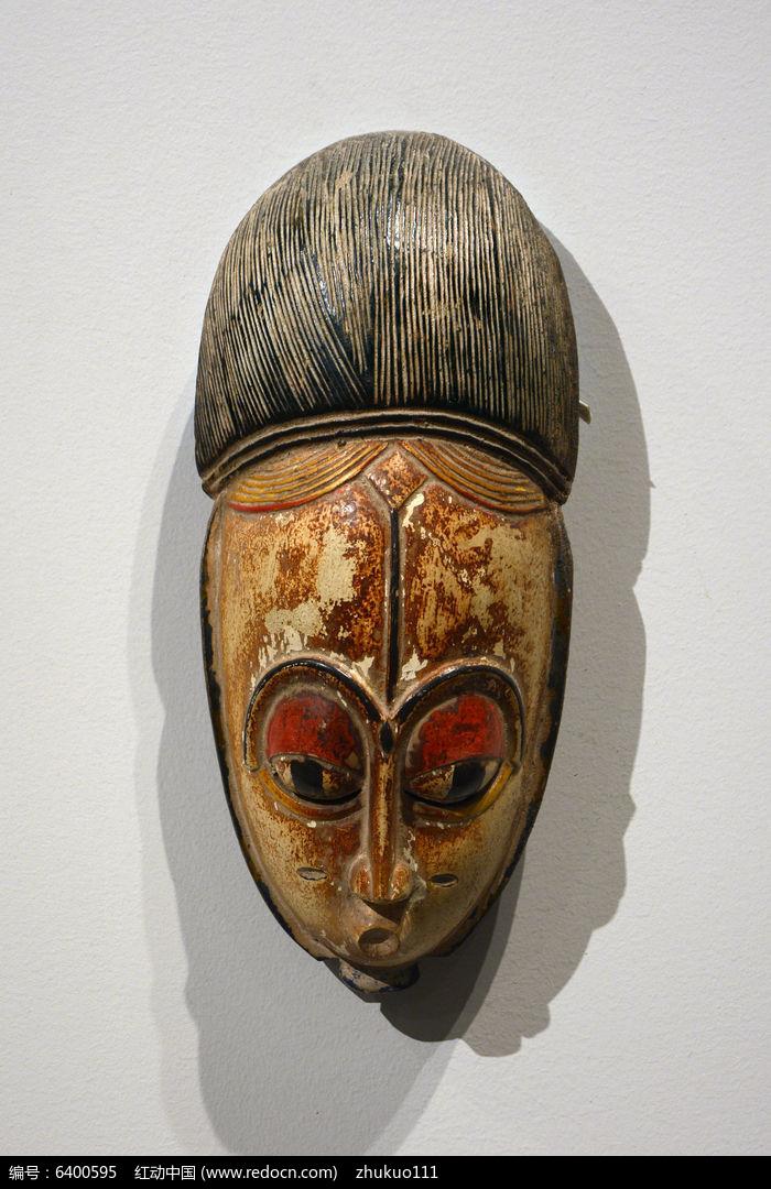 非洲彩绘木刻面具高清图片下载 红动网