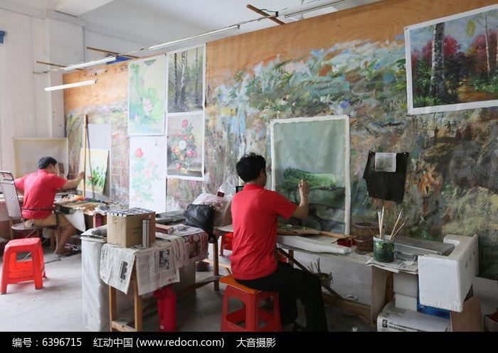人物画室手绘图