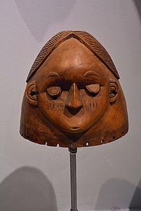 非洲闭眼木雕面具