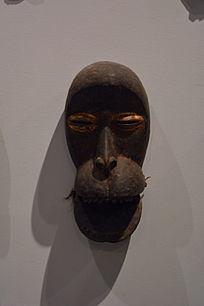 非洲雕刻大嘴人物木雕