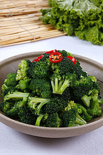 中国菜凉拦西兰花