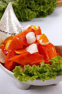 中国菜木瓜甜点
