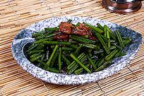 中国菜蒜台鸡肉