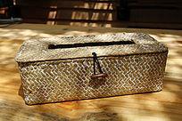 竹编抽纸盒