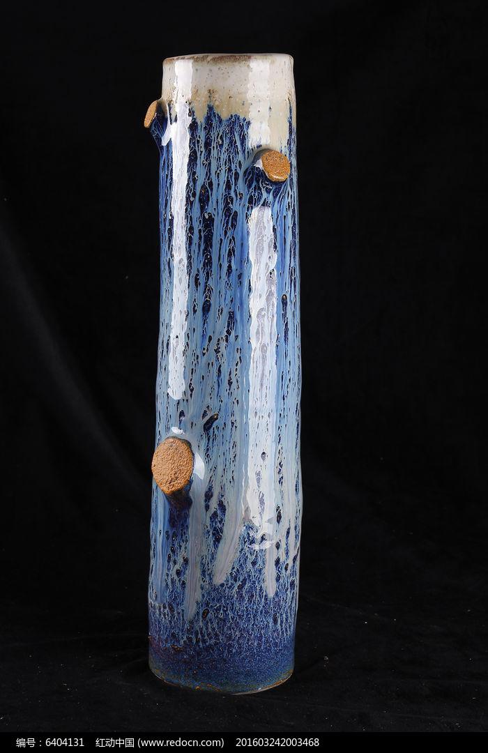 彩绘大树图案花瓶图片