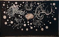 动物形象艺术涂鸦墙