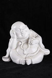 开心思考弥勒佛瓷器