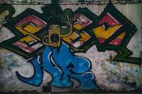 小黄人艺术涂鸦墙