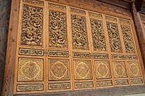 古典雕龙实木门