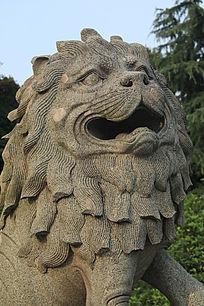 南京中山陵吉兽头部细节