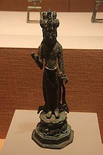 铜镀金十一面观音菩萨像