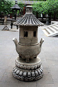 北京大观园莲花座香炉图片