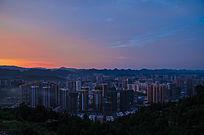 毕节城市全景摄影图