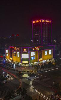 俯视商业广场